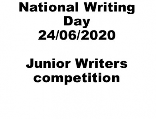 National Writing Day 2020 – Junior writers competition