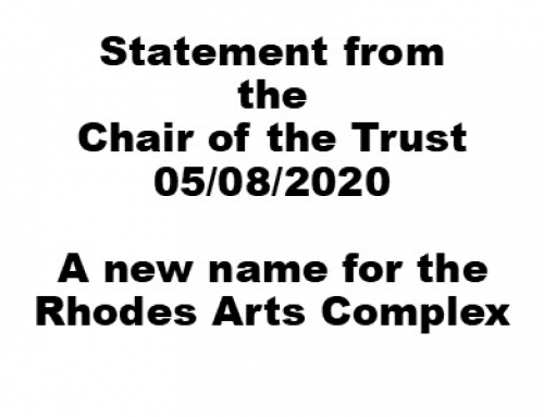 A new name for the Current Rhodes Arts Complex